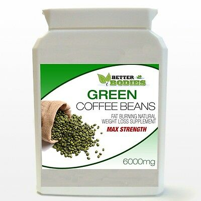 60 Strong Green Coffee Bean Max Strength 6000Mg Bottle Diet 2 Month Supply
