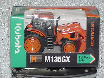 1/36 Kubota M135Gx Tractor With Loader Pullback Action