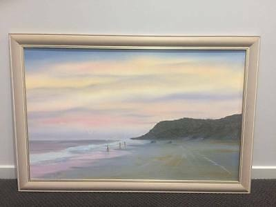 "Framed original oil painting ""Fraser Island"" on canvas by Wayne Clements"