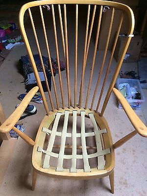 ERCOL  HIGH BACK EASY ARMCHAIR With One Back Cushion
