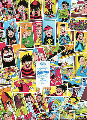 """Bassett 1990 Set Of 48 """"dandy Beano Collection"""" Blue Back Trade Cards"""