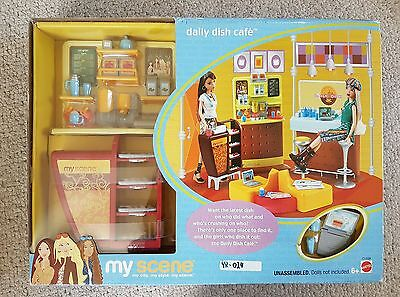 Ultra rare Barbie My Scene Daily Dish Cafe Set, New & Sealed Mattel 2003