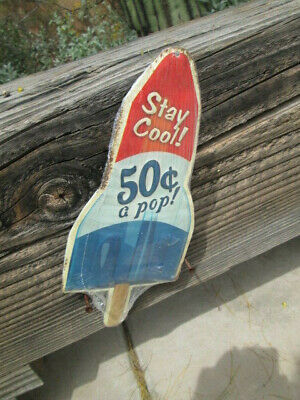 ICEE Coldest Home theater Movie Decoration Display Sign Snack Bar Vintage Look