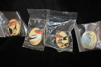 Set of 4 Guinness Gilroy Enamel Pin Badges - Unopened, Toucan/Elephant/Pelican