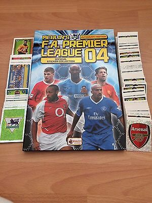 Complete Set Of 598 Merlin Premier League 2004 Stickers Collection Excellent