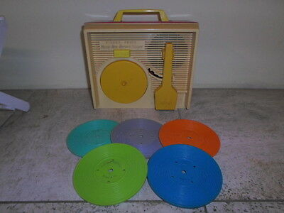 1970s Fisher Price Record Player Complete with 5 Discs in Working Order