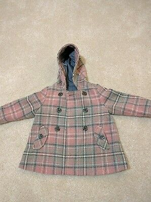 Girls coat 12-18 months from Mothercare pink/grey