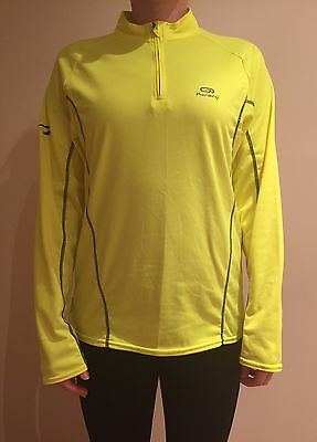 New Women's Yellow Thermal Long Sleeved Running Jersey - Small