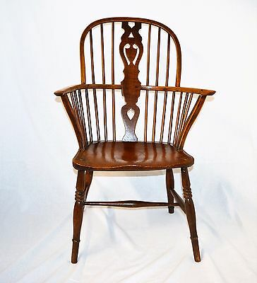 Antique Early 18th Century Ash  Windsor Stick Back Chair