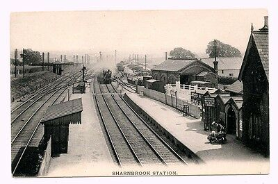 Sharnbrook Station, Midland Railway, Bedfordshire. St Pancras-Leicester line