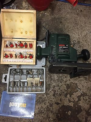 Bosch Electric Wood Router With Cutting Bits