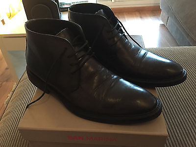 Chaussures SAN MARINA homme montantes cuir gris taille 41