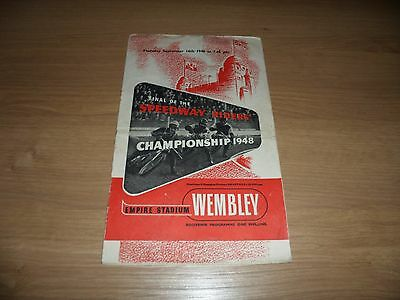 1948 Speedway Riders Championships (Pre World Final) programme