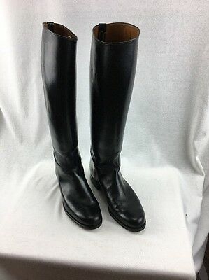 WOMENS MARSHALL FIELDS TALL EQUESTRIAN LEATHER RIDING BOOTS GINNY MEEKS Sz 7-8