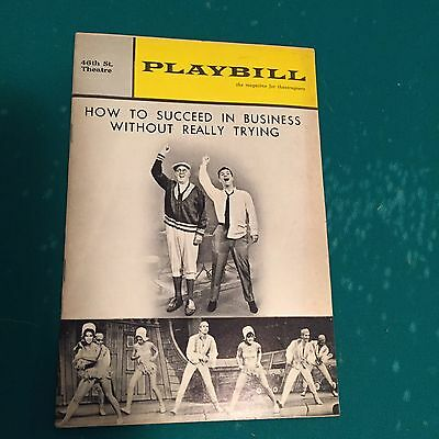 "Vintage Playbill ""How To Succeed In Business Without Really Trying"" 1964"