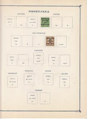 UNITED STATES OF AMERICA Early Chester Pre-Cancels Removed for Shipping