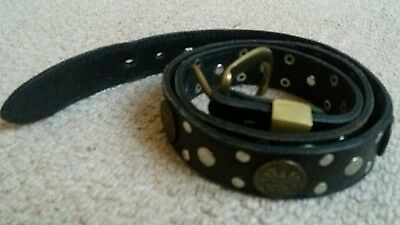 Leather belt with studs and American quarters