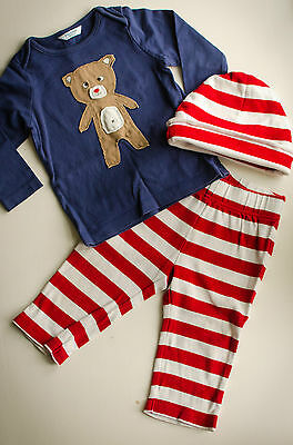 Mini Baby Boden Play Set Shirt Pants and Hat Size 6-12 Months