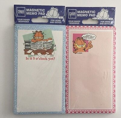 2 Garfield Magnetic Note Memo Pads New Factory Sealed