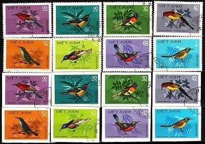 489 VIETNAM 1981 Fauna: Birds. Perforated and Imperforate, Used