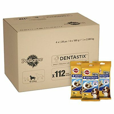 112 Pedigree Dentastix Dental Chews Treat Small Medium Large Dog Pack of 4 x 28