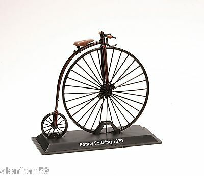 Collection  Bicycle 1:15 Penny Farthing 1870 -  Metal Model- BIC002