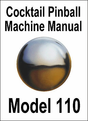 Cocktail Pinball Machine Service Manual Model 110
