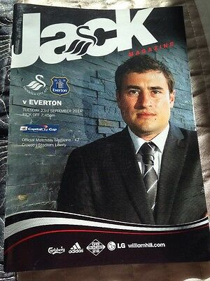 SWANSEA  v EVERTON CAPITAL ONE CUP MINT PROGRAMME