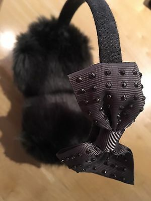 Gorgeous New Girls Furry Ear Muffs With Bling Now