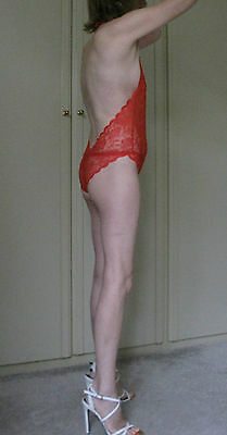 Stunning! - Red - See-through - Lace - One Piece - Body - One Size