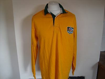 Australia Rugby Union Long Sleeve Jersey Shirt Large Mens Cotton Traders