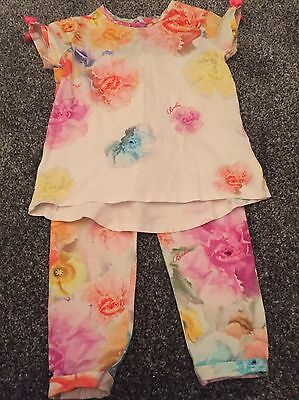 Girls Ted Baker T-shirt And Leggings Set Age 3-4