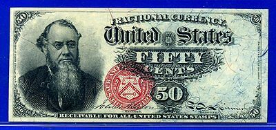 FR1376 Fourth Issue 50 Cent ** Gem-UNC ** FRACTIONAL (( Small Red Seal ))