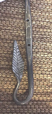 Hand Forged by Blacksmith Plant Hanger with Leaf Design
