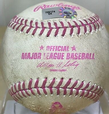 BRYCE HARPER GAME-USED PINK MOTHERS DAY MLB AUTH BASEBALL NATIONALS v CUBS 2013