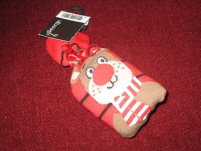 Unisex Clothes Xmas Reindeer Socks Approx 9-12 Years (Shoe Size 4 - 5 1/2) Bnwt