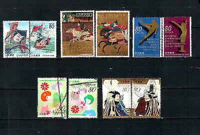 Japan, different sets, used stamps.