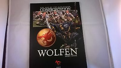 RARE - Rackham Age of Rag Narok/Confrontation Wolfen Army Book. Softback. 28mm