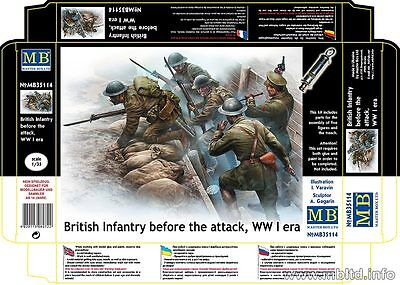 Master Box 1/35 WWI British Infantry Before the Attack (5 figures)