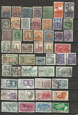 6030-LOTE SELLOS ANTIGUOS SIN TASAR MEXICO,SIN REPETIDOS.OLD STAMPS LOT untaxed