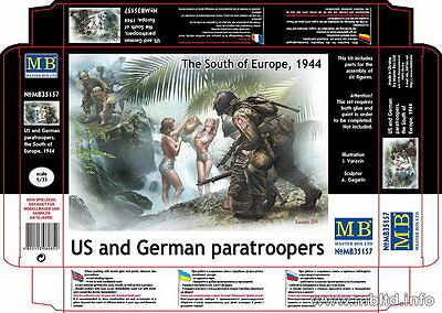 Master Box 1/35 US & German Paratroopers in the South of Europe 1944 (6 Figures)