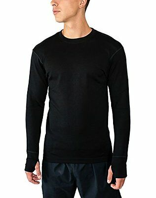 WoolX X702 Mens Heavyweight Top with Thumbholes - Black - LRG