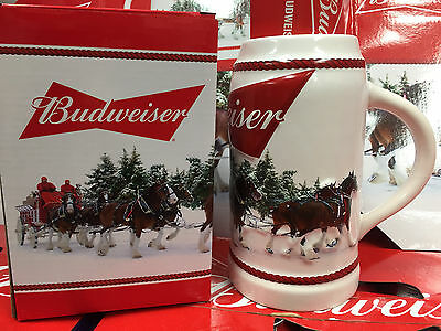2016 Budweiser Annual Holiday Christmas Beer Stein