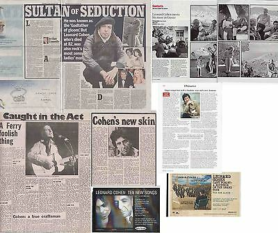 LEONARD COHEN : CUTTINGS COLLECTION  -interview adverts-
