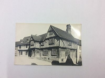 Guildhall, Suffolk, Lavenham. Real Photo Vintage Postcard
