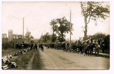 BRAUNSTON & WILLOUGHBY STATION, Great Central Railway. Teams of horses/wagons