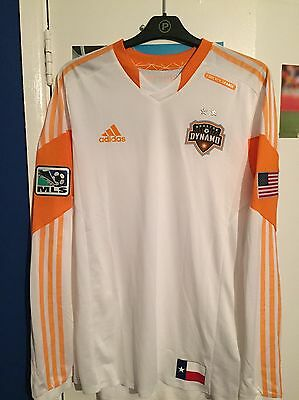Rare Houston Dynamo Authentic Away Long Sleeved MLS Soccer Jersey