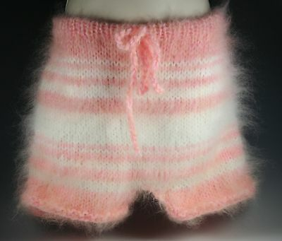 Hand Knitted Mohair  pants underwear shorts