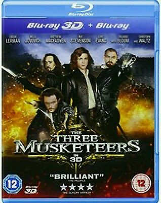 The Three Musketeers (2D Blu-ray, 2012) excellent Condition.