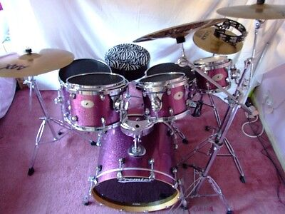 Premier Artist Birch Series 6 Piece Drum Kit With Cases and Extras